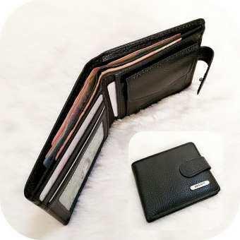 Leather Best Style กระเป๋าสตางค์หนังแท้ ใบเล็ก2พับ มีช่องใส่เหรียญ รุ่น B-55517-5A(เลือกสีได้)