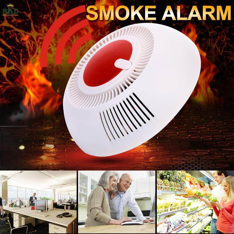 ส่วนลด Bkodak Store 85dB ABS Smoke Detector Fire Alarm Smoke Sensor Smart Independent