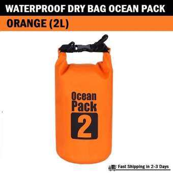 Qcase - กระเป๋ากันน้ำ ความจุ 2 ลิตร - Waterproof Dry Bag Roll Top Ocean Pack 2L For Kayaking, Boating, Swimming, Camping, Hiking, Fishing