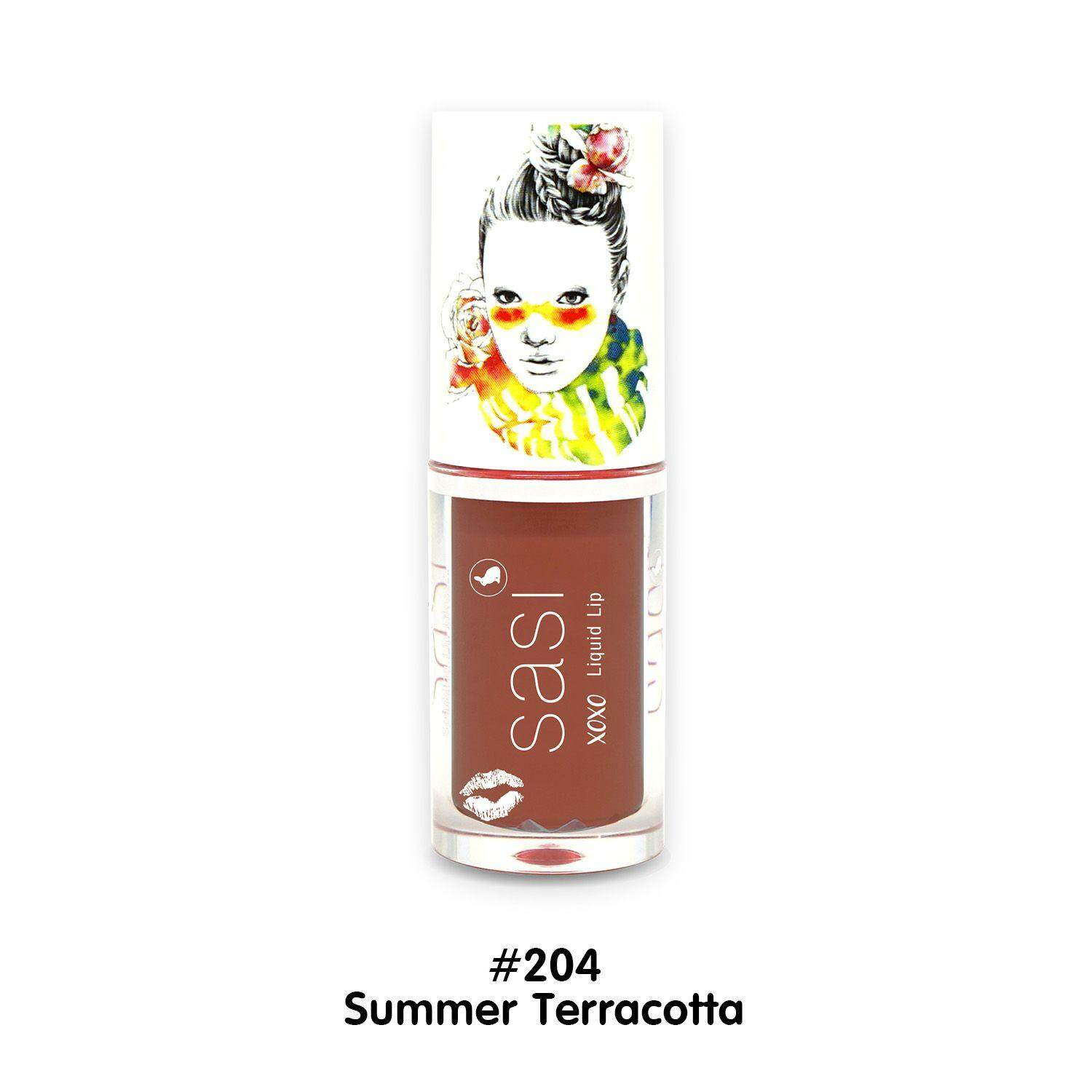 Sasi Xoxo Liquid lip Summer terracotto #204 x 1 ขวด