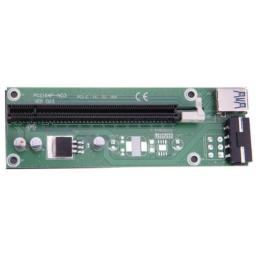 Usb 30 Pci E Express 1x To 16x Extender Riser Card Adapter Intl Vga