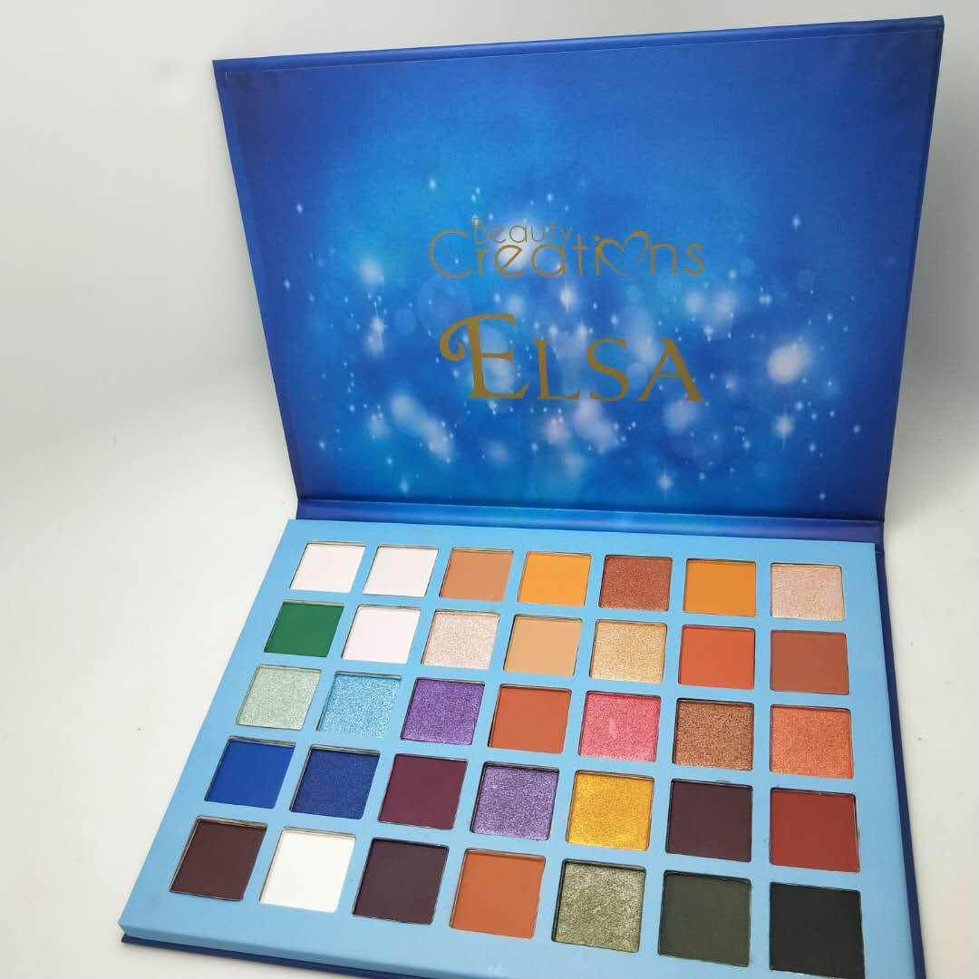 beauty 35 Colors Shimmer Eyeshadow Eye Shadow Palette & Makeup Cosmetic Brush Set