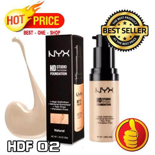 NYX HD Studio Photogenic Foundation HDF02 Nude (พร้อมกล่อง)