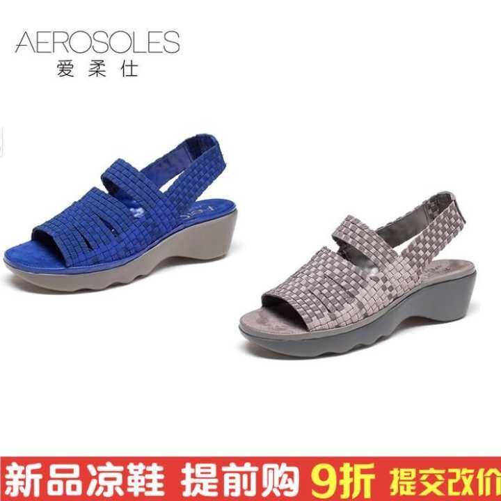 Gentleman/Lady:Aerosoles/love the soft soft soft official comfortable baba bottom bottom ascent sticks peep-toe sandals with magic female 1915303012 5 dollars - intl : Have long enjoyed great fame e9c80a
