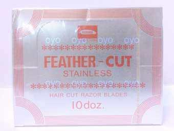 FEATHER Stainless Hair Cut Razor Blades ใบมีดโกน กันคิ้ว กันจอน ตรา ขนนก วัสดุ สเตนเลส ผลิตจากญี่ปุ่น Stainless Hair Cut Razor Blades