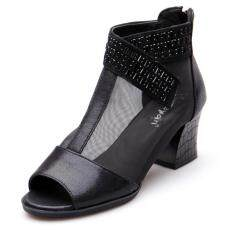 Mốt Thời Thượng Voan Lưới Mềm Mẫu Mới Rỗng Sandals Nữ