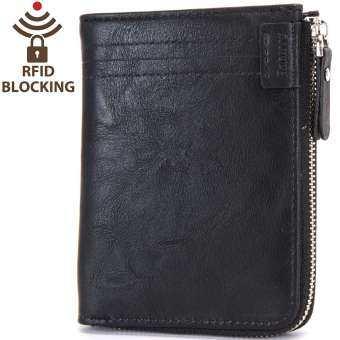 ✅Q-shop Men Zipper Wallet High quality Soft PU Leather Bifold Wallet