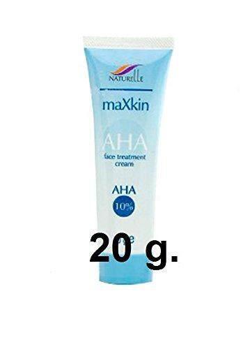 ดีที่สุด Naturelle maXkin AHA10% Face Treatment Cream 20 g e ครีมเอเอชเอ บำรุงหน้า ผิวขาวใส หน้าใส ลดสิว ผลัดเซลล์ผิว ลดปัญหาผิวแห้ง หยาบ ฝ้า กระ จุดด่างดำ รอยอีสุกอีใส ต้องแนะนำ