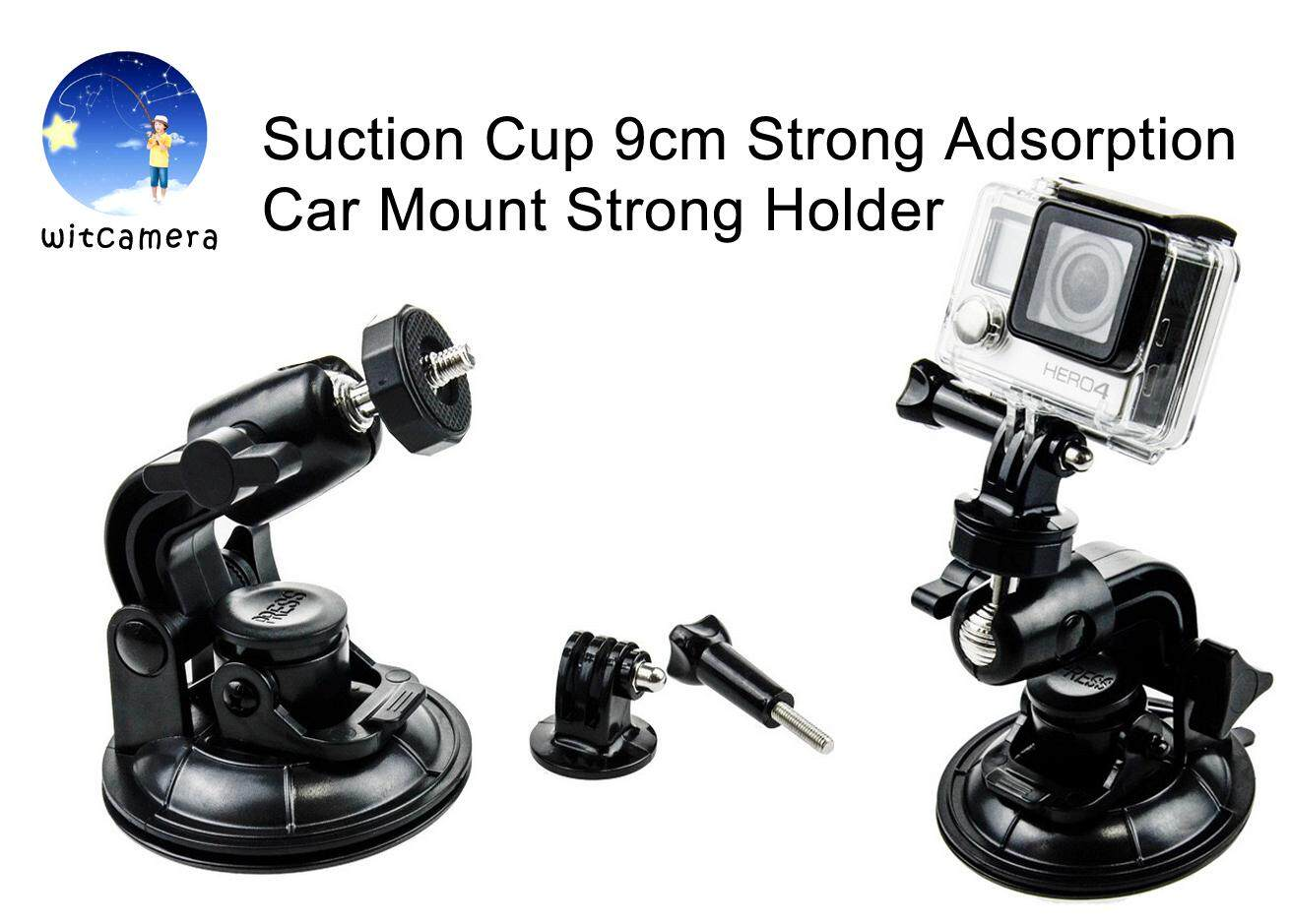 Suction Cup 9cm Strong Adsorption Car Mount for GoPro Acation Camera Hero 6/5/4/3+/3 models Sjcam , Xiao YI  Suction Mounts Strong Holder จุกดูด 9 เซนติเมตรการดูดซับกำลังสูงรถขายึดกล้องโกโปร Acation Camera Hero 6/5/4/3+/3 models Sjcam , Xiao YI   Mounts S
