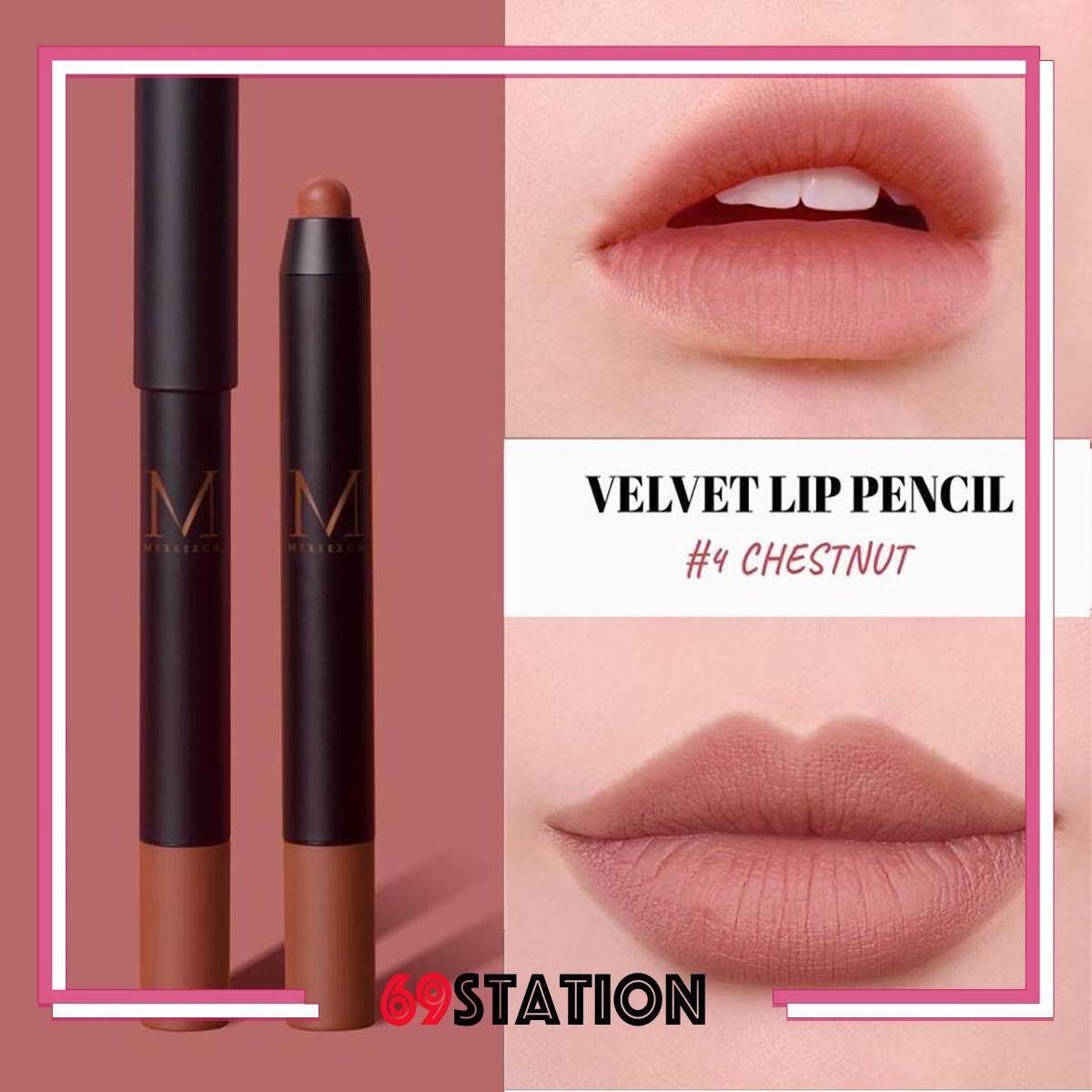 1 Velvet Merrezca กันน้ำ เมอเรสก้า เนื้อแมท ลิปดินสอ 3g Pencil Lip