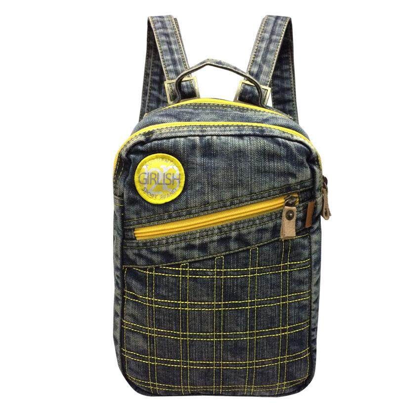 Denim Jeans Backpack, Girlish, Travel, Leisure Bag, Small Jeans Backpack-91093 by pdstohome  กระเป๋าเป้สะพายหลัง กระเป๋าผู้หญิง