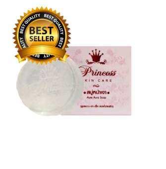 แนะนำ Princess skin care aura aura soap สบู่หน้าเงา หน้าเด็ก 80 g.( 1 ก้อน )