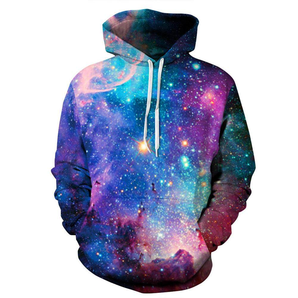 3D Print Starry Design Hoodie Cool Casual Long Sleeve Hooded Pullover Sweatshirt Top