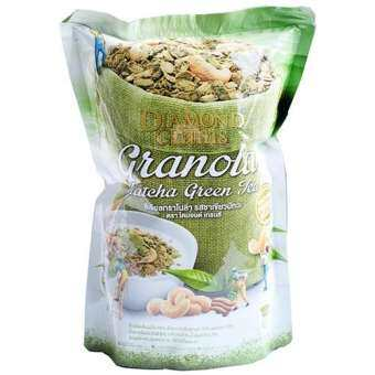 Diamond grains Matcha greentea Granola 500g.