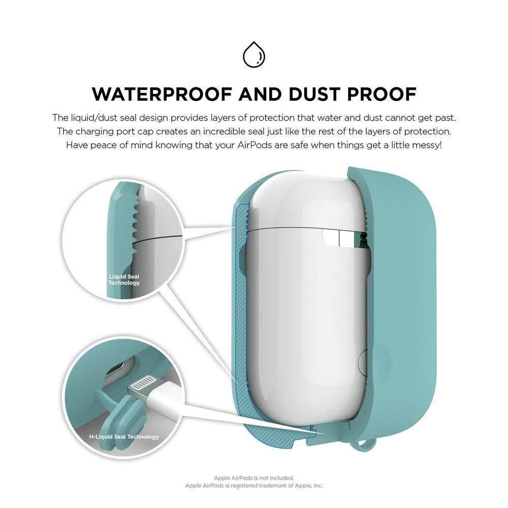 ถูกเหลือเชื่อ หูฟัง niceEshop NiceEshop Soft ปลอกซิลิโคนสำหรับ Apple Airpods กันน้ำกันกระแทกกรณีกระเป๋าซองสำหรับหูฟัง airpods พร้อม Hook ขายถูกที่สุดแล้ว