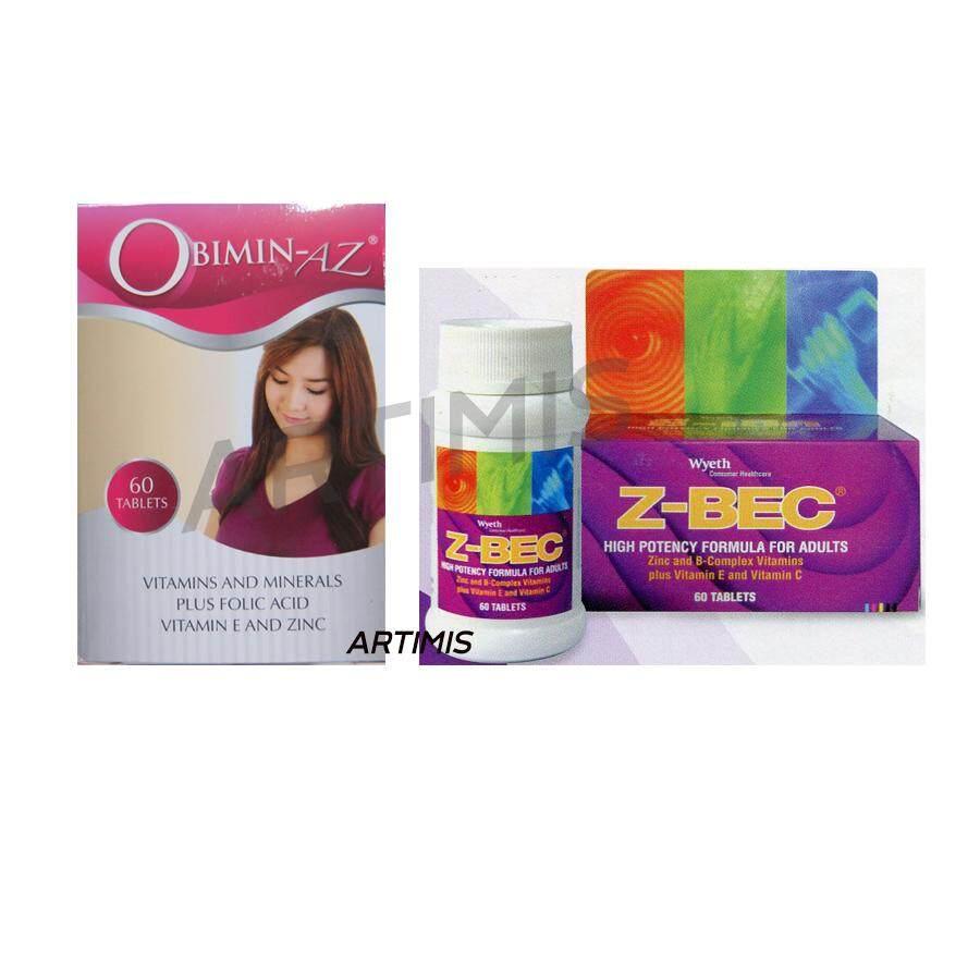 Set Obimin-AZ 60 tabs + Z-BEC 60 tabs เตรียมพร้อมสำหรับการตั้งครรภ์ เซตอาหารเสริม บำรุงร่างกาย ทั้งคุณพ่อและคุณแม่ เพื่อ เตรียมพร้อมสำหรับการตั้งครรภ์