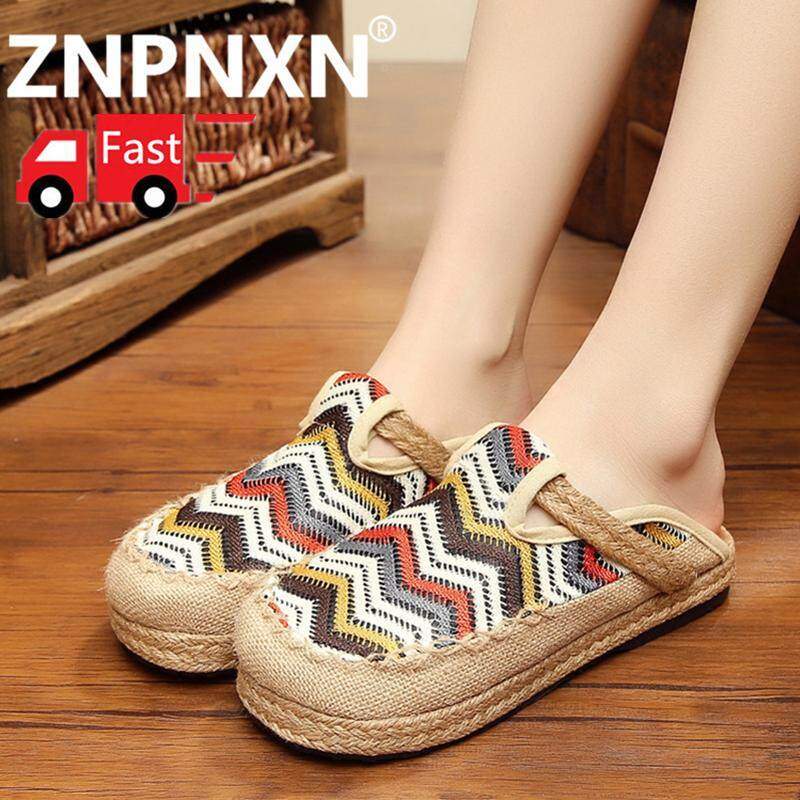 ZNPNXN Women's Shoes Women's Loafer Shoes Women's Fashion Shoes Women's Slip-On SlippersShoes Home Shoes 【Free Shipping】 รองเท้าส้นแบนหุ้มส้น