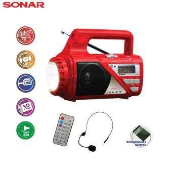 SONAR วิทยุไฟฉาย รุ่น SP-206C - สีแดง