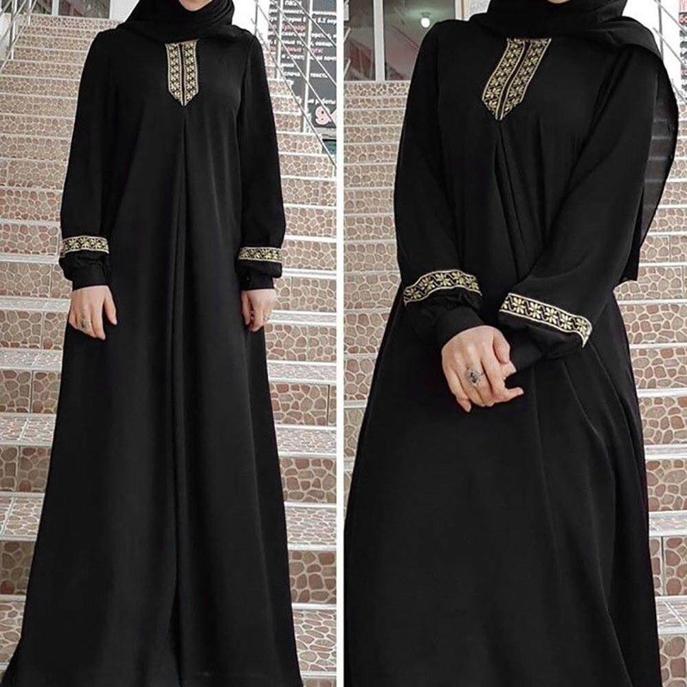aa1acb22ccd Product details of Ormondshop Women Plus Size Print Abaya Jilbab Muslim  Maxi Dress Casual Kaftan Long Dress