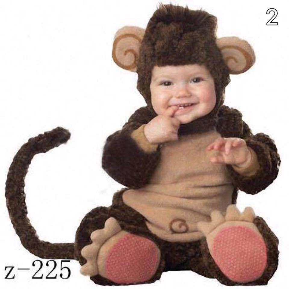 ราคา พร้อมส่ง!! ชุดแฟนซีเด็ก ชุดลิงคลุมเท้า (Monkey Big Feet) Baby Fancy By Tritonshop
