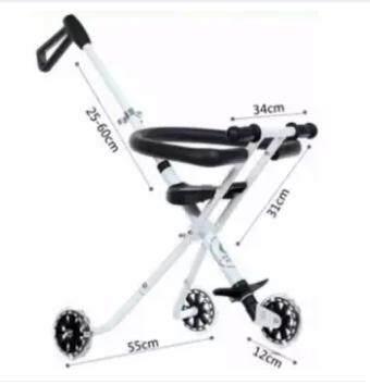 โปรโมชั่น ลดราคาส่งท้ายปี Baby รถเข็นเด็กแบบนอน Baby Wheel รถเข็นเด็กพับได้ พกพาง่าย ถือขึ้นเครื่องเดินทางสะดวกสบาย ปรับได้ เด็กอ่อน เด็กหัดเด็น เปรียบเทียบราคาที่ดีที่สุด