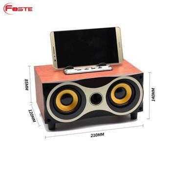 Review ลำโพงแบบพกพา None Wireless speaker 6series ลำโพงบลูทูธ ลายไม้ รุ่น XM-6 WoodenSpeaker18C ลดราคาและมีของแถม