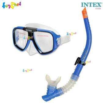 Intex ส่งฟรี ชุดหน้ากาก-ท่อหายใจ รีฟไรเดอร์ สีฟ้า รุ่น 55948