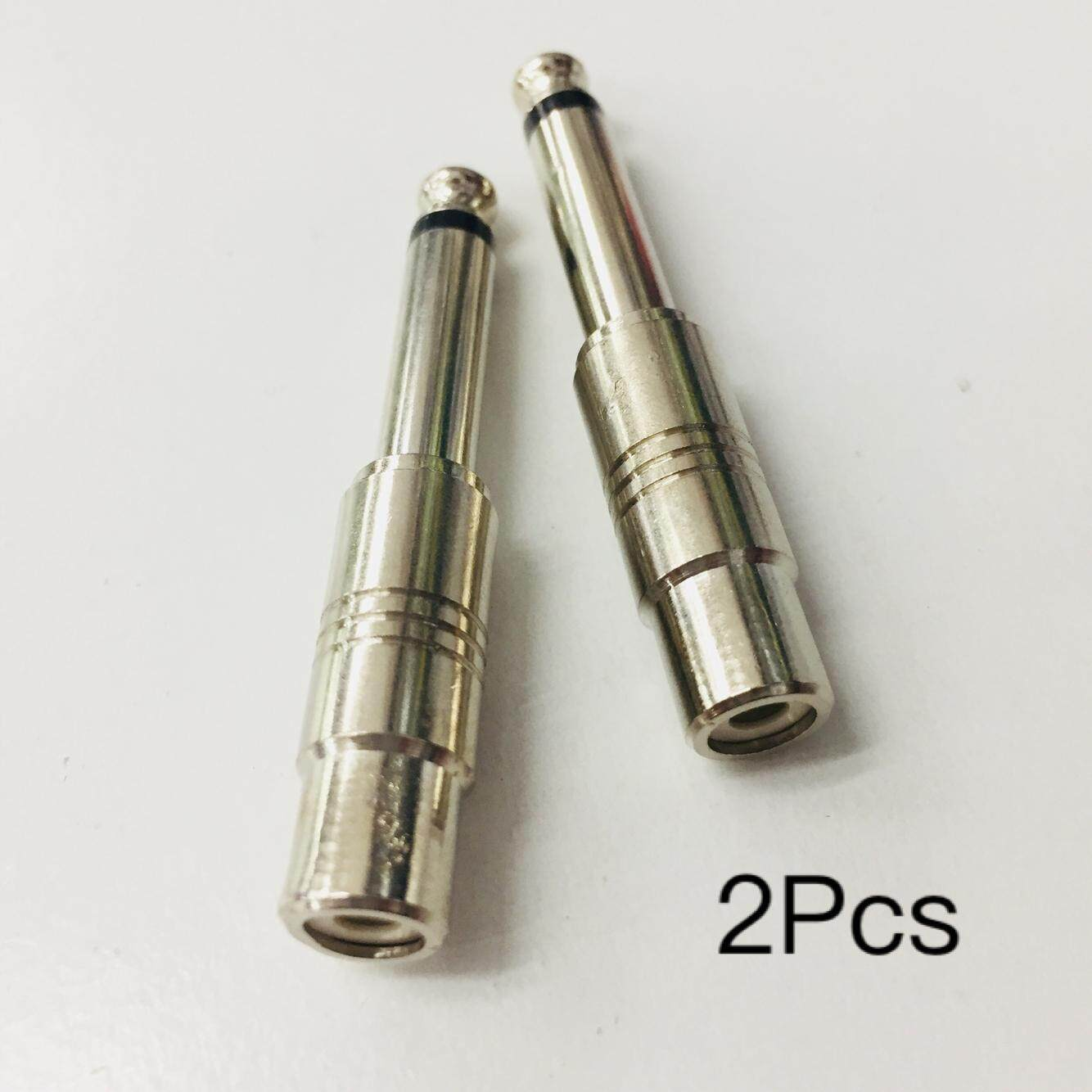 2pcs 6.35mm 1/4inch Male Mono Plug To RCA Female Audio Adapter Connector