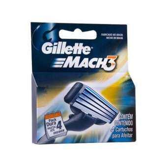 ราคา Gillette : GILGM3-4* มีดโกนหนวด Mach3 Refill Razor Blade for Men (4-counts)