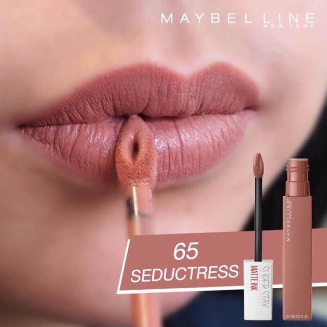 65 จูบไม่หลุดแท้ Ml แมท ซุปเปอร์ สเตย์ 5 Super Maybelline นิวยอร์ก Ink อิ้งค์ York Stay ติดทน Matte Seductress New เมย์เบลลีน