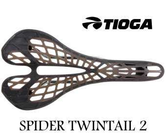 เบาะจักรยาน Tioga SPYDER TWINTAIL 2 Bicycle Saddle size:275x135mm Weight:190g Rails:7mm Hollow Chromoly