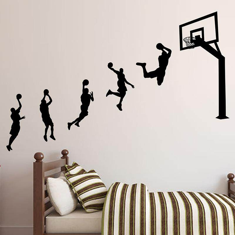 Personalized & Creative Basketball Sports Wall Sticker College Student Dormitory Bedroom Wallpaper Self-Adhesive Wall Sticker Wall Wallpaper