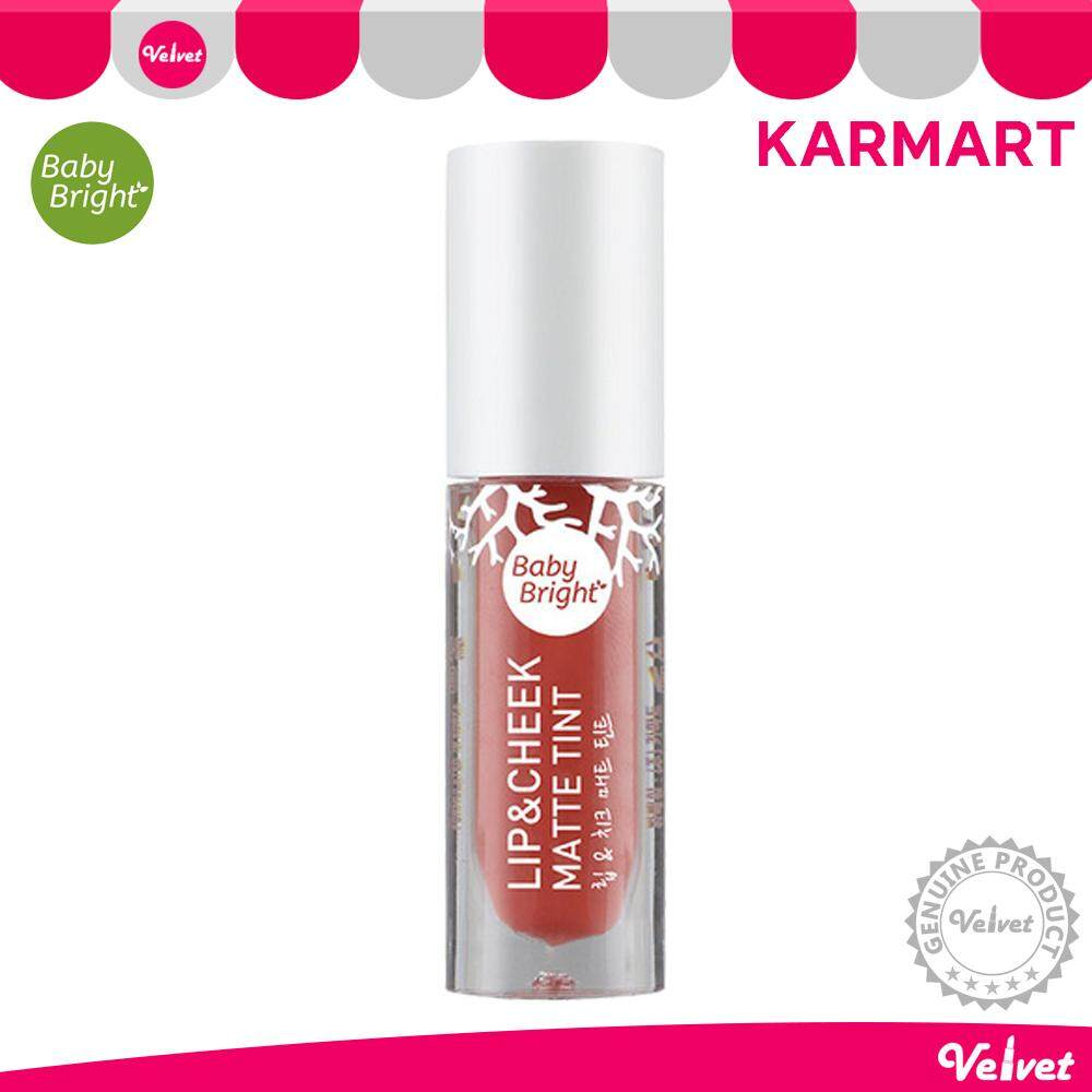 Baby Bright Lip & Cheek Matte Tint 2.4g ลิป baby bright เบบี้ไบร์ท ลิปแอนด์ชีคแมทท์ทินท์ (velvetcosme)