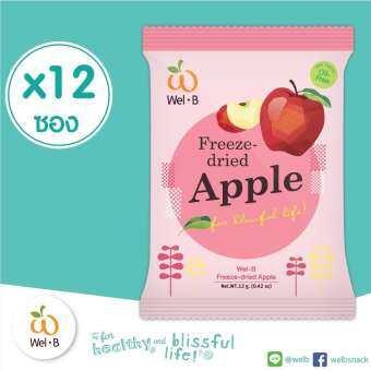 Wel-B FD Apple 12g.(Pack 12 pcs.) (ผลไม้กรอบ)-