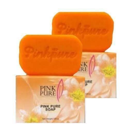 สบู่พิงค์เพียว ลดฝ้า Pink pure soap 100 กรัม (2 ก้อน )