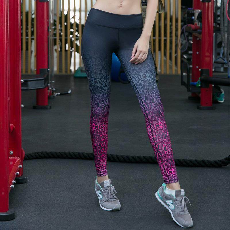 Women Quick Dry Compression Sports Slim Yoga Pants Jogger Workout Leggings Fitness Gym Running Tights