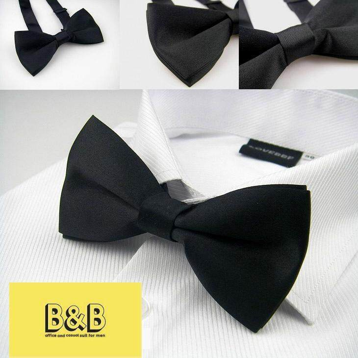 หูกระต่าย สีแดง Men's Classic Pre-Tied Formal Tuxedo Bow Tie