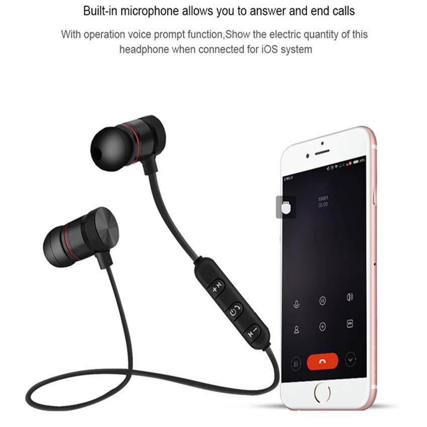 แนะนำ หูฟัง ซัมซุง Wireless M9 Magnetic Bluetooth Headset In-Ear Noise Reduction Earphone - intl มีคูปองส่วนลด