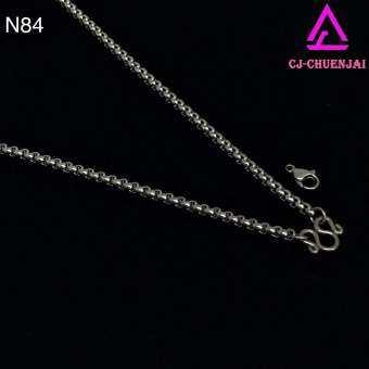 CJ-CHUENJAI สร้อยคอสแตนเลส ลาย ผ่าหวายกลมBOR 3.5มิล16-30นิ้ว N84