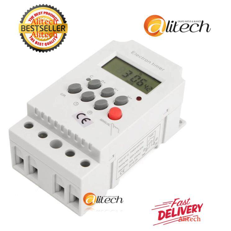 Alitech AC 220V 25A Din Rail Digital Programmable Electronic Timer Switch For KG316T-II