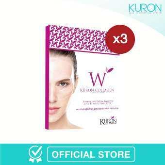 ราคา [แพ็ก 3] - Kuron แผ่นมาส์กหน้า สูตร Collagen Crystal Mask RN0001