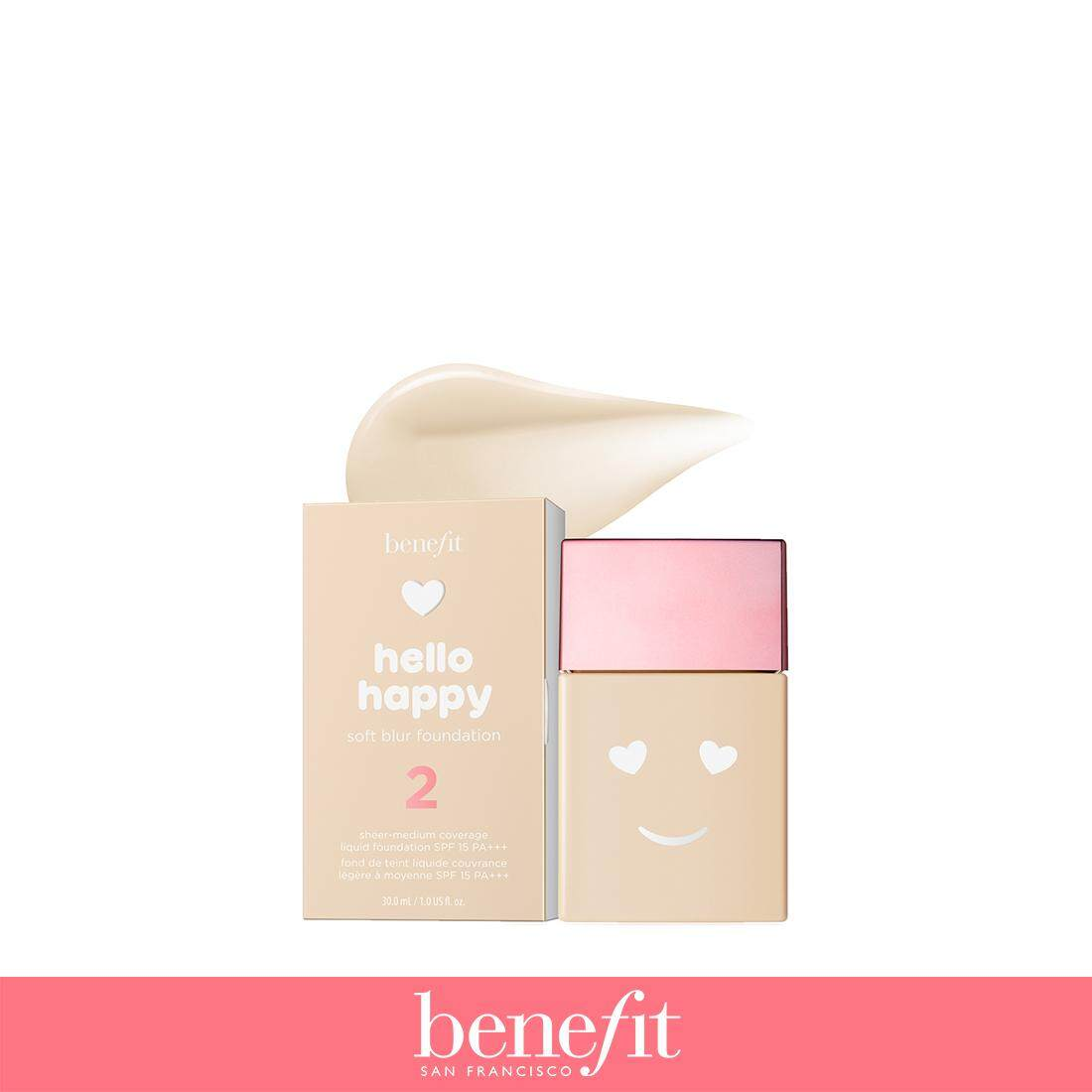 Benefit รองพื้น Hello Happy Soft Blur Foundation no.2