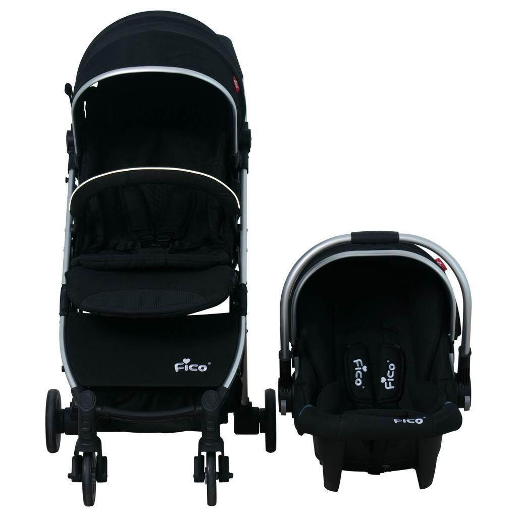 ขายถูกที่สุด Crystal Fashion รถเข็นเด็กแบบนอน Baby Stroller  รถเข็นเด็ก รถเข็นปรับเข็นหน้า-หลัง รถเข็นเด็กปรับนอนได้ 180 มีของแถม