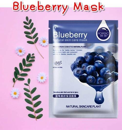 มาร์คหน้า มาส์กหน้าบลูเบอรี่ Blueberry Mask