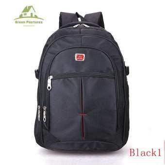 GP00079 Backpack กระเป๋าเป้สะพายหลังกันน้ำ กระเป๋าโน๊ตบุ๊ค กระเป๋าเป้เดินทาง(Black)