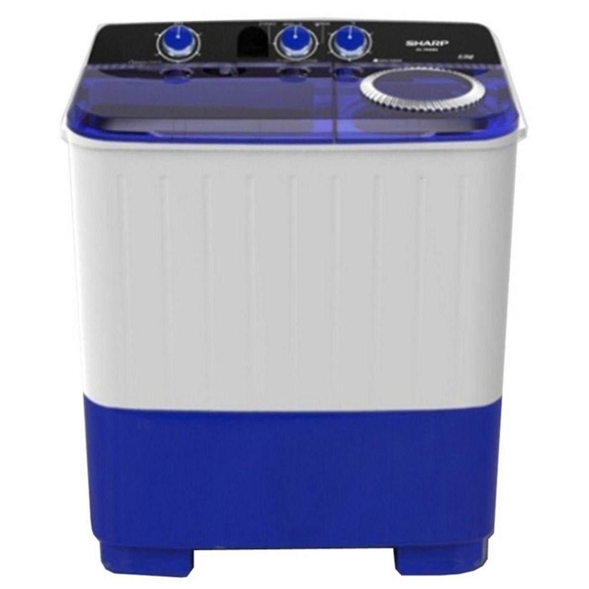 ลดราคา ถูกที่สุด เครื่องซักผ้า Sharp ลดโปรโมชั่น -22% SHARP เครื่องซักผ้าถังคู่ฝาบน (8/5.6 กก.) รุ่น ES-TW80BL เก็บเงินปลายทาง ส่งฟรี