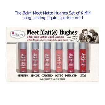The Balm Meet Matte Hughes Set of 6 Mini Long-Lasting Liquid Lipsticks Vol.1 (ขนาด1.2mlx6)