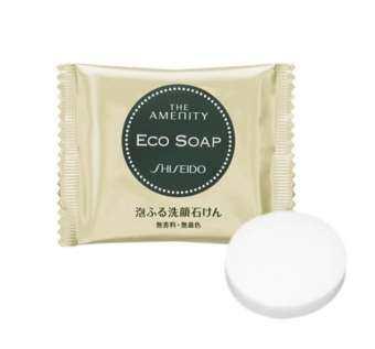 SHISEIDO THE AMENITY ECO SOAP 10g.(สีทอง)