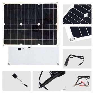 แผ่น Solar cell แบบพกพา เดินทาง ขนาด 15W มี 2ช่องเสียบ USB 5V และช่องชาร์จ 12V