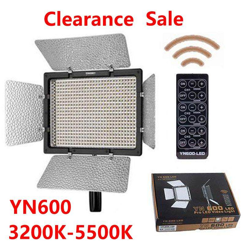 Yongnuo YN600 YN-600 Pro LED 3200K - 5500K Video Light Lamp + Remote for Canon Nikon Camcorder Clearance Sale image